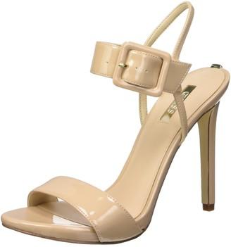 GUESS Women's Abbie2 Patent Pu T-Bar Heels