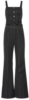 STAUD Tao striped jumpsuit