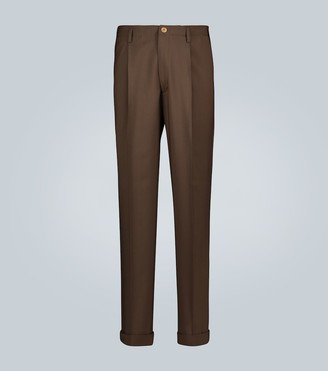 Gucci High-waisted pleated wool pants