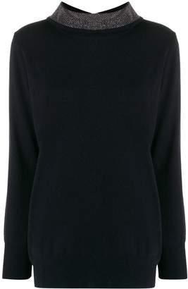 Fabiana Filippi embellished collar knit top