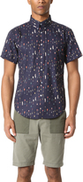 Naked & Famous Denim Arrow Print Short Sleeve Shirt