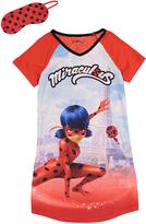 Komar Kids Miraculous Lady Bug Red Nightgown & Eye Mask - Girls