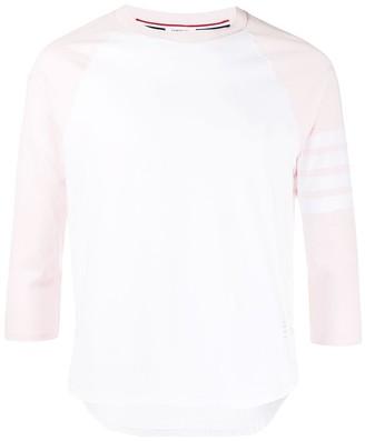 Thom Browne 4-Bar Baseball T-Shirt