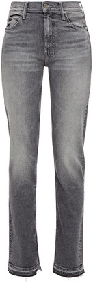 Mother The Rascal Mid-rise Straight-leg Jeans