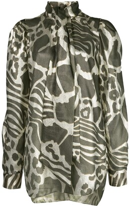 Adam Lippes Animal Print Blouse