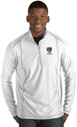 Antigua Men's Brooklyn Nets Tempo Quarter-Zip Pullover