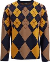 Joseph Argyle Knit Sweater in Navy