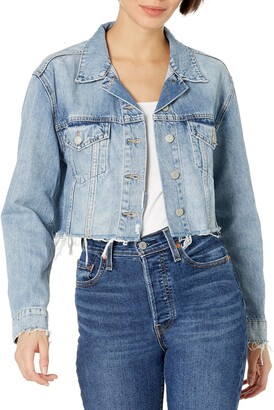 Lucky Brand Women's Cut Off Denim Trucker Jacket