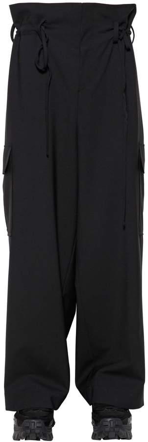 Juun.J 30cm Wool Blend Wide Leg Cargo Pants