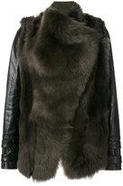 Plein Sud Jeans panelled fur jacket