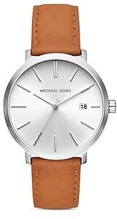 Michael Kors Blake Brown Leather Strap Watch, 42mm