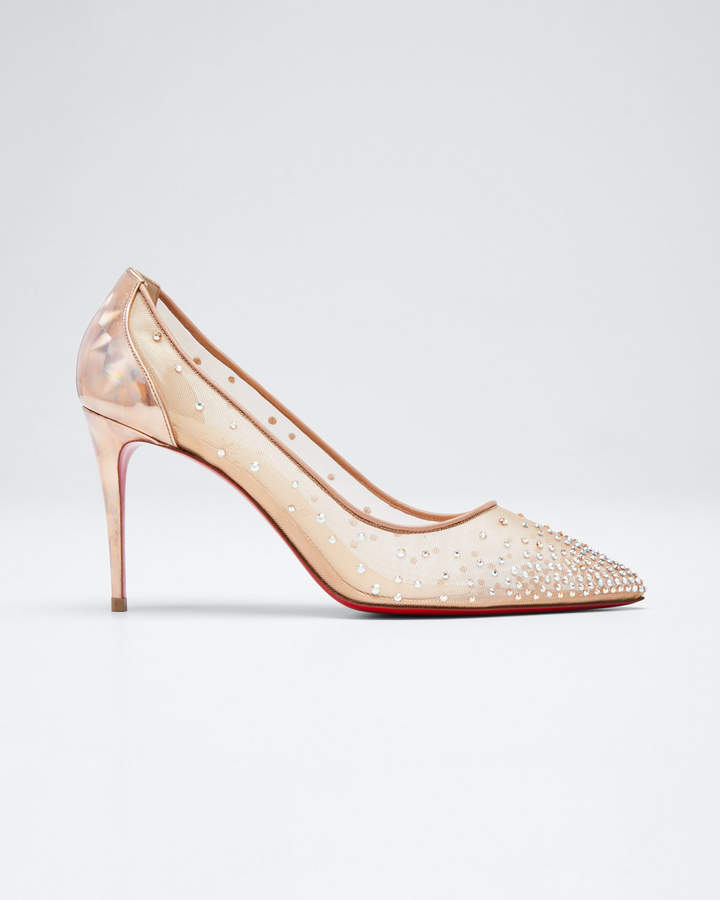 Follies Strass Red Sole Pumps