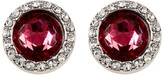 Rebecca Minkoff Crystal Halo Stud Earrings