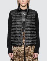 Moncler Down Jacket With Knitted Sleeves