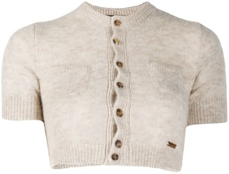 DSQUARED2 Cropped Knitted Cardigan
