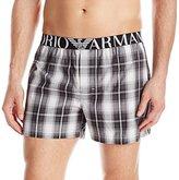Emporio Armani Men's Yarn Dye Woven Boxer