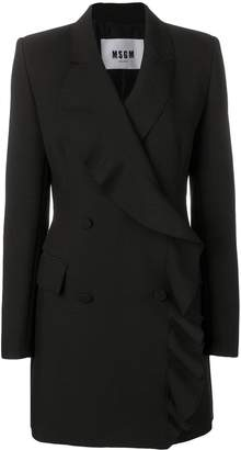 MSGM ruffled long blazer