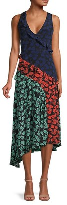 Saloni Aggie Floral Silk Sleeveless Dress