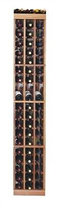 Symple Stuff Florez 57 Bottle Floor Wine Bottle Rack Finish: Midnight Black Stained Premium Redwood