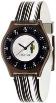 Cactus Kids Watch CAC-40-L01 With Plastic Case And Striped Black And White Strap