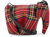 Loewe Elephant mini tartan bag - women - Leather/Wool - One Size