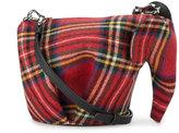 Loewe Elephant mini tartan bag