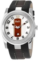 Dolce & Gabbana Unofficial Strap Silver Dial Men's Watch #DW0263