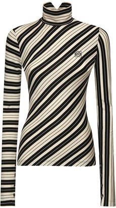 Loewe Striped Stretch Cotton Jersey Top