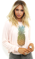 Wildfox Couture Rainbow Pineapple Luca Crop Top in Chapstick