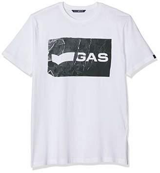 Gas Jeans Men's Scuba/s Sq. T-Shirt, (White 0001), XX-Large