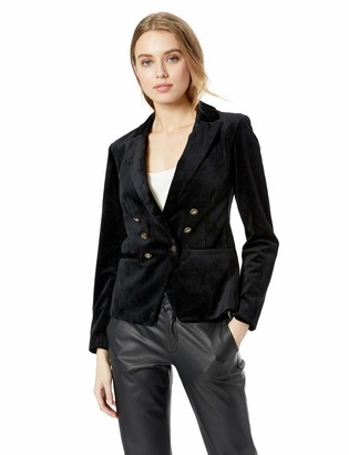 Cupcakes And Cashmere Women's belisma Velveteen Double Breasted Blazer