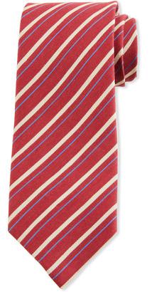 Charvet Double Stripe Silk Tie