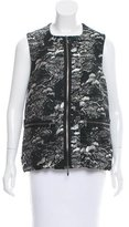 Marni Zip-Up Jacquard Vest