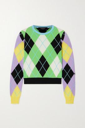 Versace Argyle Cashmere Sweater - Green