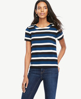 Ann Taylor Home Tops + Blouses Striped Doubleface Tee Striped Doubleface Tee
