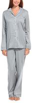 Malabar Bay Gray & White Organic Cotton Sateen Pajama Set