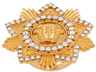 Versace Medusa Star crystal-embellished ring