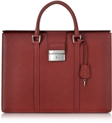 Pineider City Chic Embossed Leather Briefcase