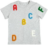 Au Jour Le Jour Letter Patches Cotton Jersey T-Shirt