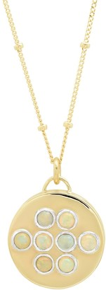 """Elliot Young Fine Jewelry 14K Gold Round """"Love Locket"""" With Ethiopian Opals"""