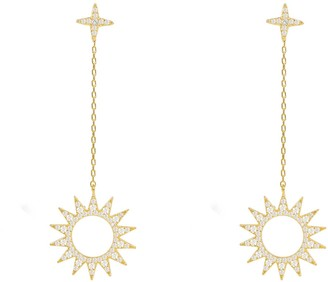 Latelita Sun Day & Night Drop Earrings Gold