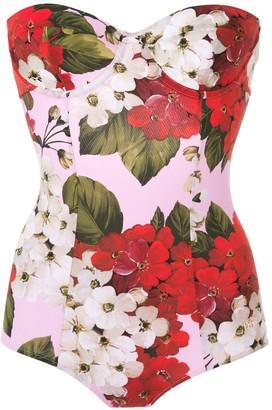 Dolce & Gabbana Rose Print Swimsuit