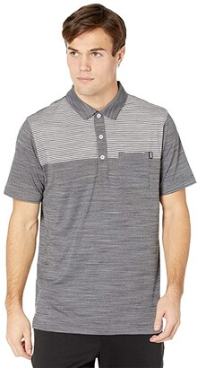 Puma Golf Cloudspun Pocket Polo Black Heather) Men's Clothing