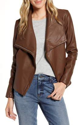 BB Dakota Up to Speed Faux Leather Moto Jacket