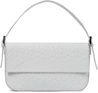 BY FAR Manu croc-effect leather shoulder bag
