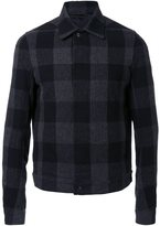 Rick Owens checked shirt jacket