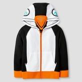 Cat & Jack Toddler Boys' Penguin Hooded Sweatshirt True White UV Calibrated
