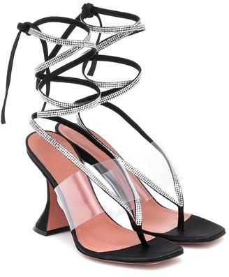 Amina Muaddi Zula embellished PVC sandals