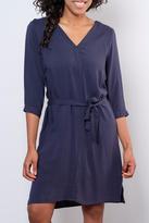 Ichi Waist Tie Shift Dress