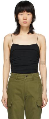 Alexander Wang Black Compact Jersey Bodysuit